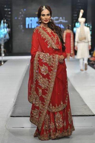 Pakistani Full Sleeve Wedding Dresses 2014