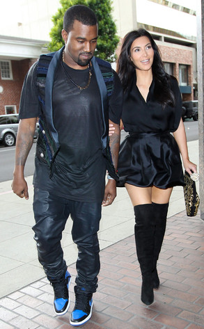 Kanye West with Kim Kardashian Photos