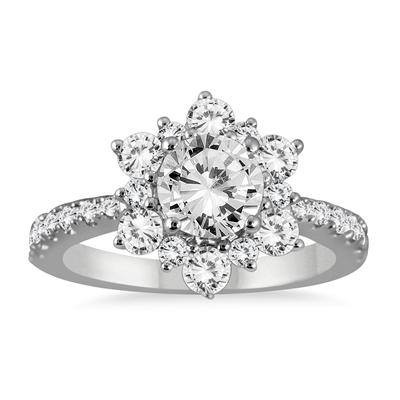 beautiful white gold engagement rings fashion 2017