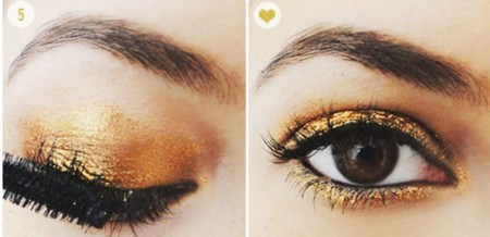 How To Get Gold Sparkle Eye-Shadow