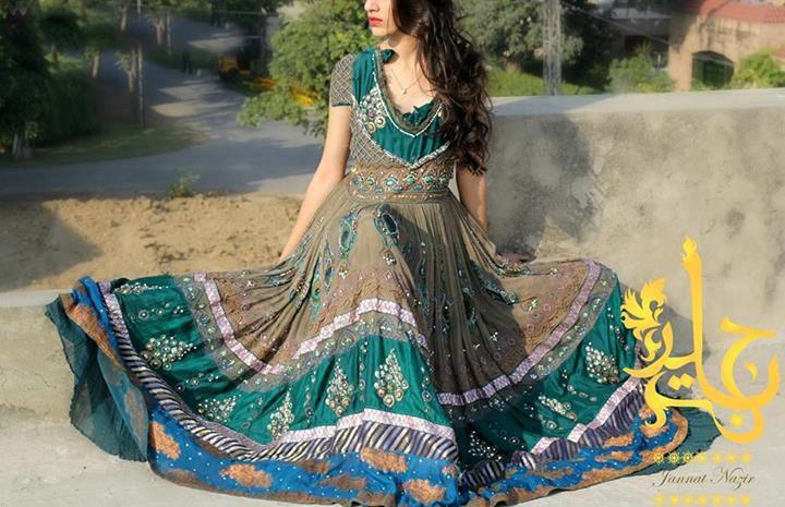 Latest Fashion of Pakistani Frock Designs 2014