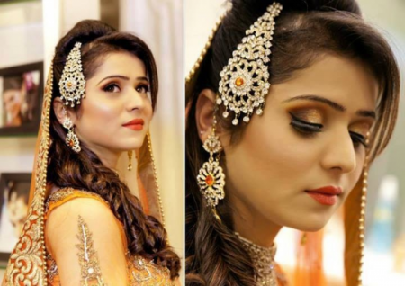 Mehndi Hairstyles With Paranda : Pakistani & indian hairstyle trend 2014 for brides fashion 2017