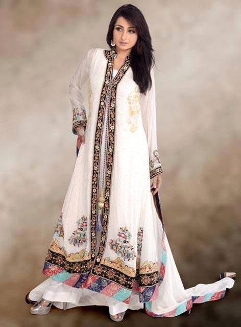 Pakistani And Indian Bridals Semi Formal Fashion Dresses 2014