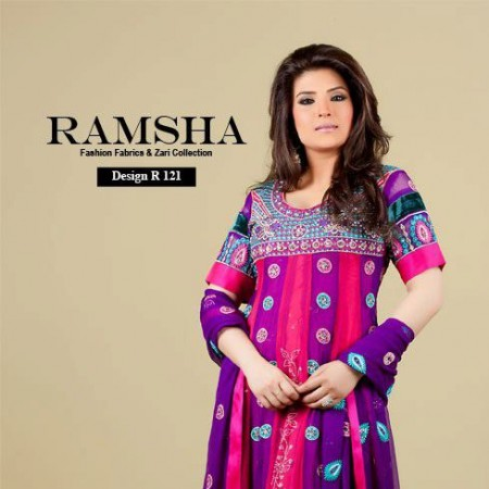 Ramsha Fashion Exclusive Embroidered Dresses 2014