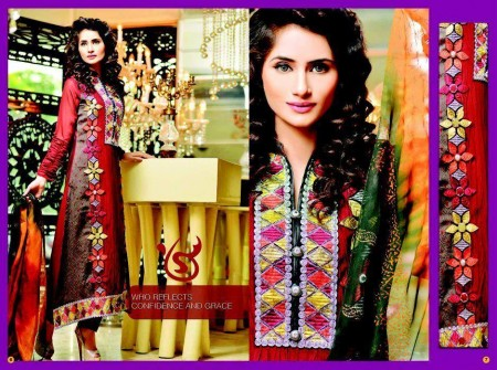 Salam's Textile Winter Dresses 2014 For Women