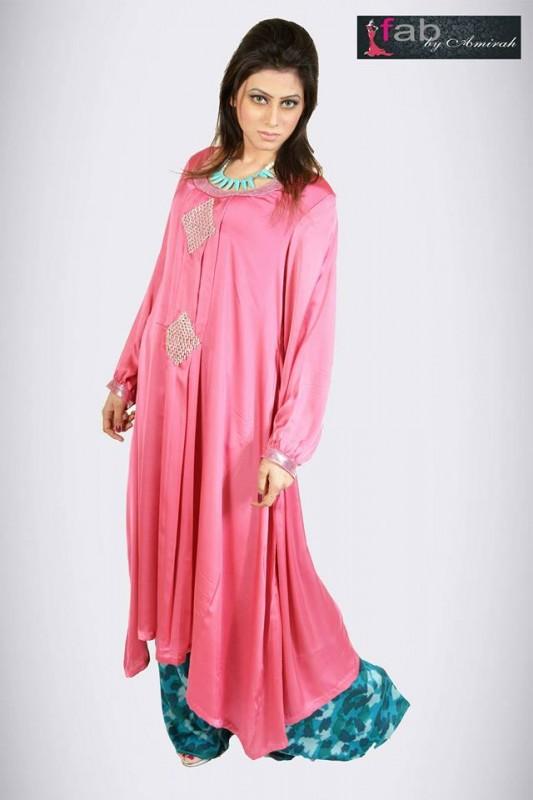 satrangi by saqib casual wear spring dresses 2014 satrangi