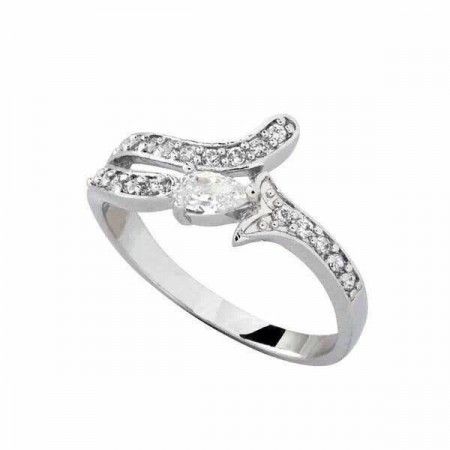 Unique Women White Gold Diamond Rings