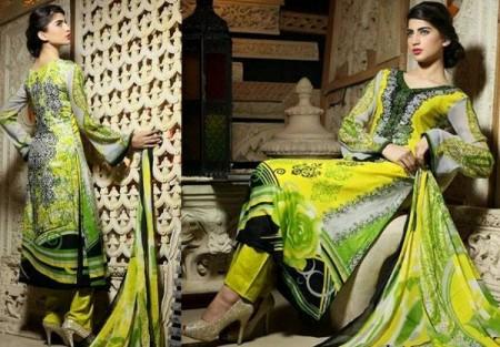 Yashfeen Lawn Summer Dresses 2014 For Women