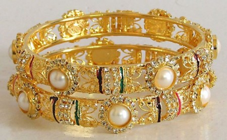 Golden bangles latest designs
