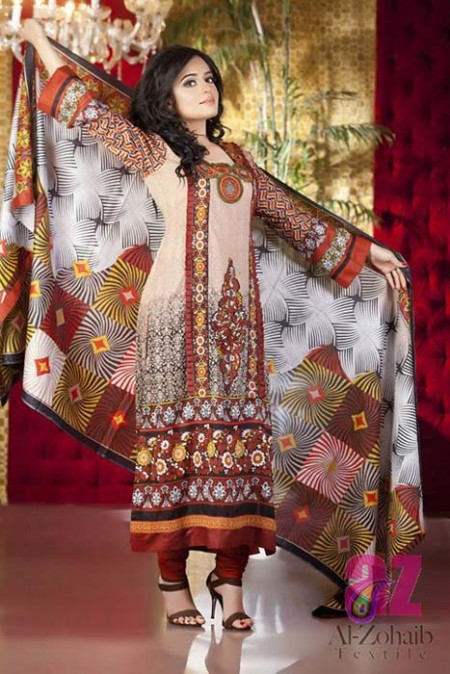 Al-Zohaib Textile Releases Anum Classic Lawn Dresses 2014
