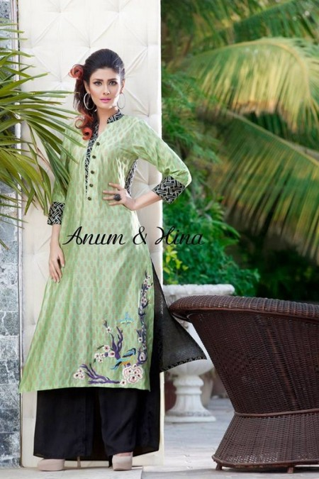 Anum And Hina Women Spring Dresses 2014