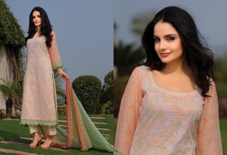 Armeena Rana Khan Designer Lawn 2014 by Gohar Textiles