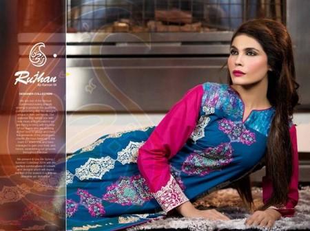 Rujhan Fabric Parisha Women Lawn Collection 2014 Volume 3