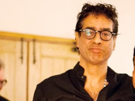 Amin Gulgi is in the exhibition of Work by Ali Hassan in Qarar Gallery Karachi