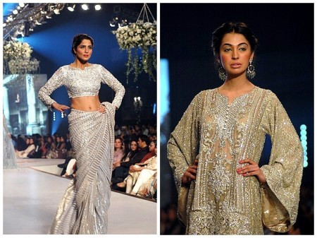 Fashion Designer, Faraz Mannan paid special attention over Kamdani work in his prepared dresses.