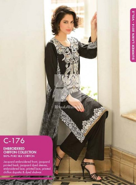 Gul Ahmed Chiffon Dresses 2014 Volume 2