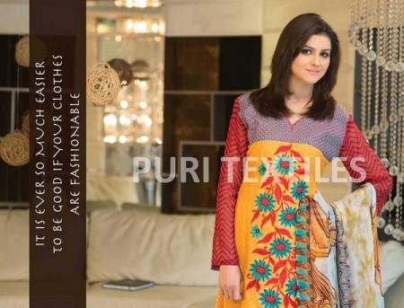 Puri Textiles Women Summer Lawn Dresses 2014 Volume 2