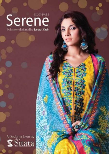 Sitara Textiles Women Serene Lawn 2014