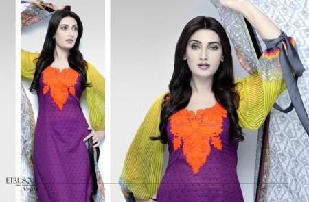 Aeisha Varsey Premium Lawn Eid Dresses 2014 For Girls