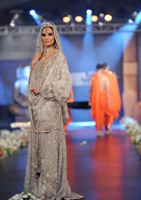 Trend of Grey Walima Bridal Dresses 2014 For Women
