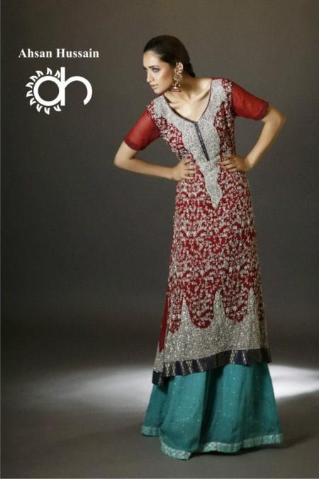 Ahsan Hussain Brides and Groom Wedding Wear 2014