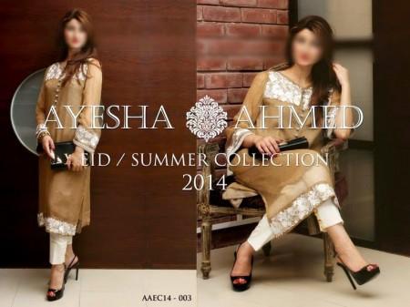 Ayesha Ahmed Eid Summer Dresses 2014 For Women
