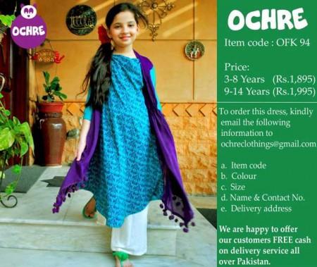 Ochre Clothing Eid Dresses 2014 For Kids