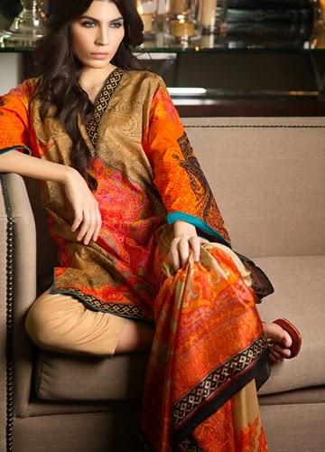 Sana Safinaz Eid Lawn Dresses 2014 For Women