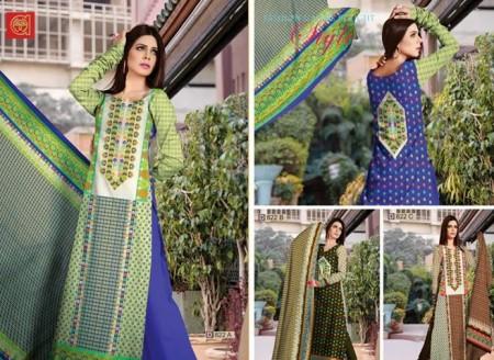 Al-Hamra Textile Mid Summer Women Dresses 2014