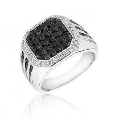 Designs of Men Black Sapphire Rings 2014
