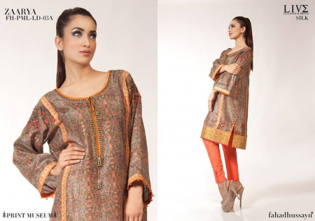 Fahad Hussayn Digital Print Dresses 2014 For Women