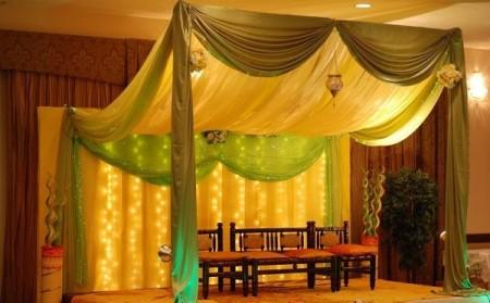 Mehndi And Barat Stage Decoration Ideas