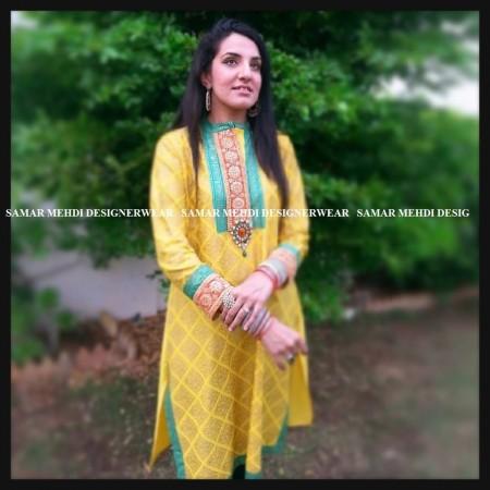 Samar Mehdi Girls Party Dresses 2014