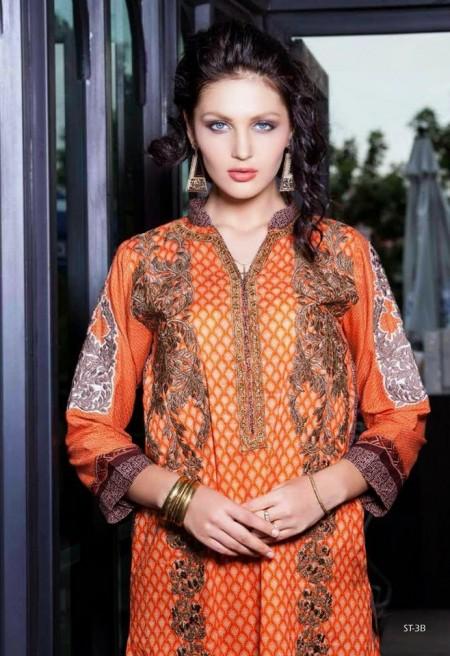 Shariq Textiles Rabea Kurti Designs 2014
