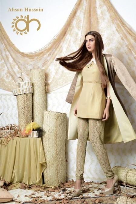 Ahsan Hussain Women Gold Line 2014