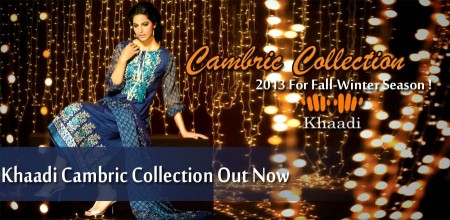 Khaadi Cambric Autumn Collection 2014