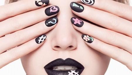 Turn Nails Into Chalkboard Elegant Manicure