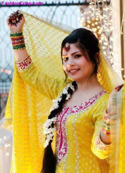 Mehndi Function New Bridal Hairstyles 2014
