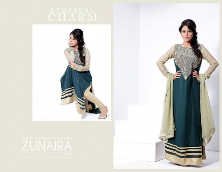 Zunaira's Lounge Eid-Ul-Azha Girls Dresses 2014