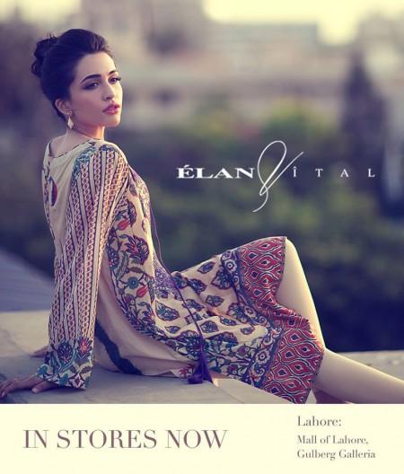 Elan Vital Mid Summer Lawn Dresses 2014