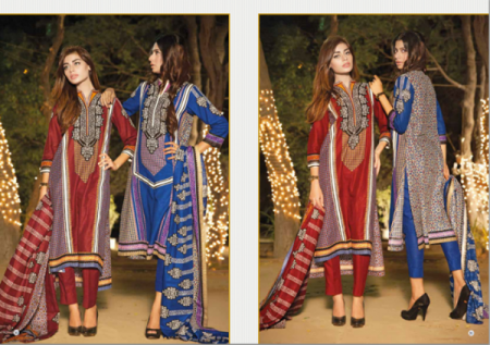 House Of Ittehad German Linen Winter Dresses 2014 2015