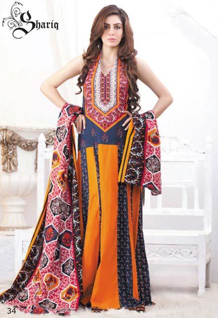Shariq Textiles Khaddar Winter Prints 2014