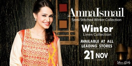 Amna Ismail Women Dresses 2014 For Winter