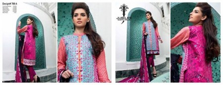 Jubilee Cloth Mills Winter Dresses 2014 Volume 5 For Women