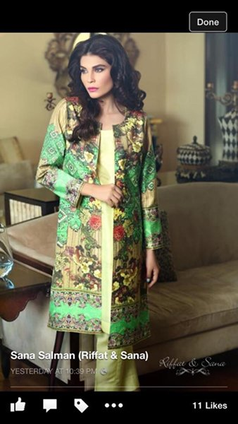 Sana Salman Winter Dresses 2014 For Women