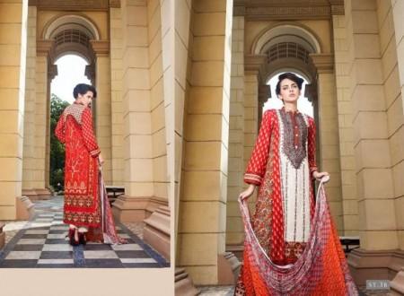 Rabea Designer Embroidered Dresses 2014 by Shariq Textiles
