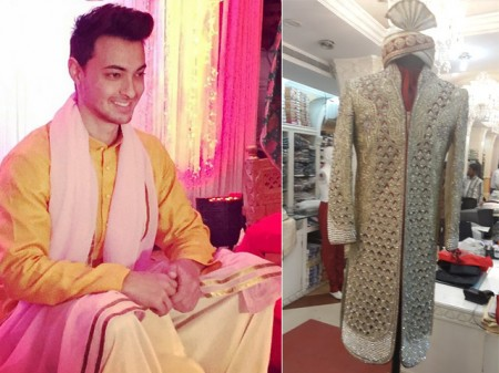 Aayush Sharma wedding Pictures with Arpita Khan