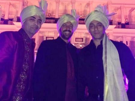 Salman Khan, Karan Johar and Javed Jahfri Pics