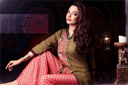 Cotton Ginny Digital Print Dresses 2014 for Women
