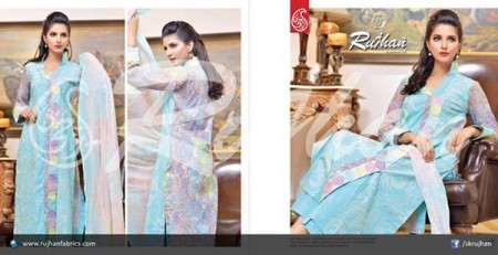 Rujhan Fabric Cotton Dresses 2014 For Women